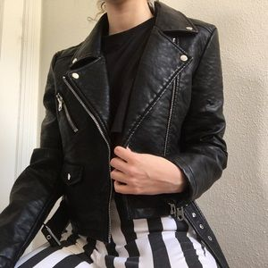NWT UO Faux Leather Moto Jacket
